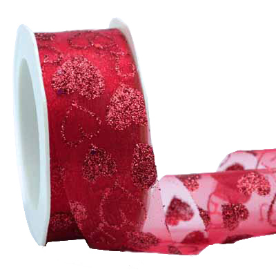 38mm CEO RED GLITTER HRT-Red