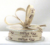 10mm COTTON TAPE w/COFFEE-Natural/Brown