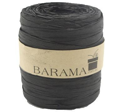 4mm PAPER RAFFIA-Black