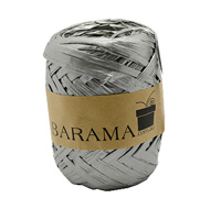 4mm PAPER RAFFIA-Metallic Silver