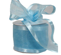 75mm SATIN EDGE SHEER-Pale Blue