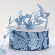 30mm SATIN LEAVES-Pale Blue