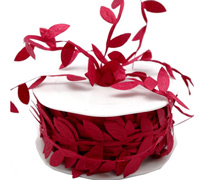 30mm SATIN LEAVES-Red