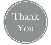 STICKER SEAL THANKYOU-Silver Circle