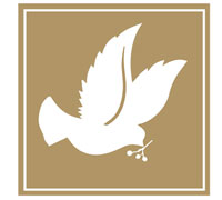 SQUARE DOVE SEAL-Gold