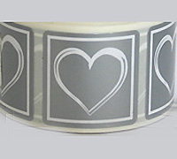 30mm SQUARE HEART SEAL-Silver