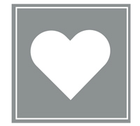 SQUARE HEART SEAL-Silver