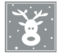 SQUARE REINDEER SEAL-Silver