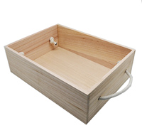 TIMBER HAMPER BOX with handles