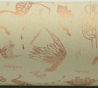 AUST ANIMALS WRAP-Rose Gold White on Kraft
