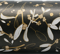 AUSTRALIAN FOLIAGE WRAP- Black/Gold/White On Kraft