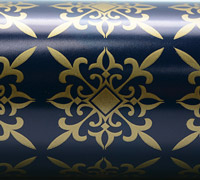 BAZAAR  WRAP-Navy Gold