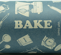 50cm BAKING WRAP * 50gsm * -Washed Navy/White On Kraft