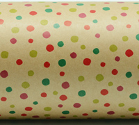CONFETTI WRAP-Chart Scalet Emerald on Kraft
