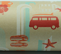 COMBI WRAP-Tangerine Scarlet Tiff on Kraft