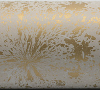 COLOUR SPLASH WRAP- Gold on White on Kraft