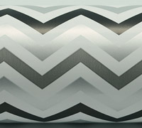 TRI CHEVRON WRAP-Silver Black Grey