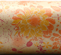 FLORAL IMPRESSION WRAP- HPI ORA Yellow On Kraft