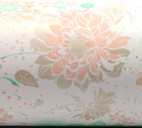 FLORAL IMPRESSION WRAP- Mint Peach Gray