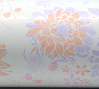 FLORAL IMPRESSION WRAP- Pink Peach Lilac
