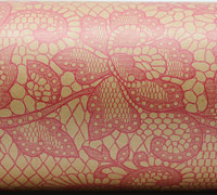 LACE WRAP-Hot Pink on Kraft