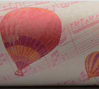 MUSIC BALLON WRAP- White/Rasp/Plum