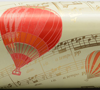 MUSICAL BALLOON WRAP- Cream/Red/Orange/Gold