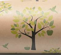 ORCHARD WRAP-Chart Olive Black on Kraft