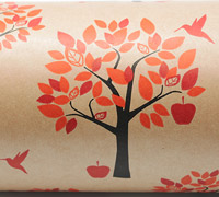 ORCHARD WRAP-Tang Scarlet Black on Kraft