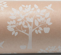 ORCHARD WRAP-White On Kraft