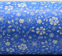 PRETTY BLOOMS WRAP-Cornflower Blue On White