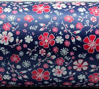 PRETTY BLOOMS WRAP-Navy/Hot Pink On White