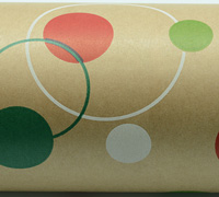 POLKA DOT WRAP-Nat White Red Lime Emerald