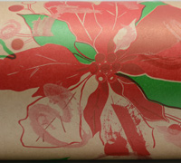 POINSETTIA WRAP- Scarlet Eme Red on Kraft