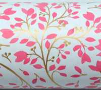SPRING BLOSSOM WRAP - Pink/Gold On White