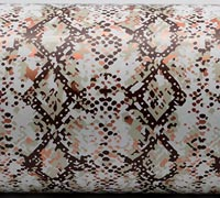 SNAKESKIN WRAP-Beige/Brown/Copper On White