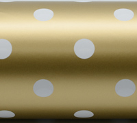 SPOT WRAP- Gold White