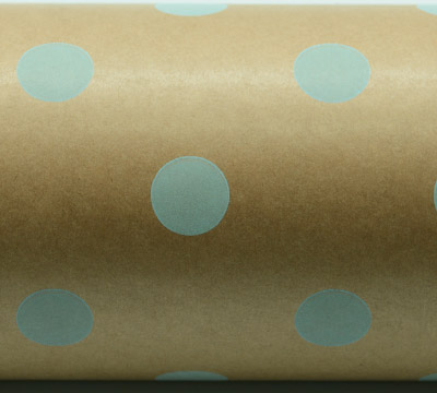 SPOT WRAP-Pale Blue on Kraft