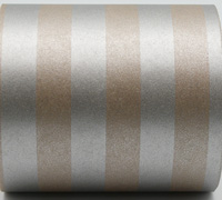 50cm SOLID STRIPE WRAP-Silver/Silver On Kraft