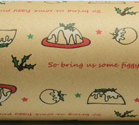 FIGGY PUDDING WRAP-Scarlet Emerald on Kraft