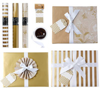 GIFT WRAPPING SET - Glamorous Gold