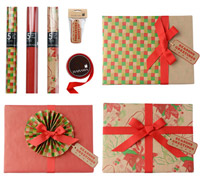 GIFT WRAPPING SET - Xmas Kraft in Red